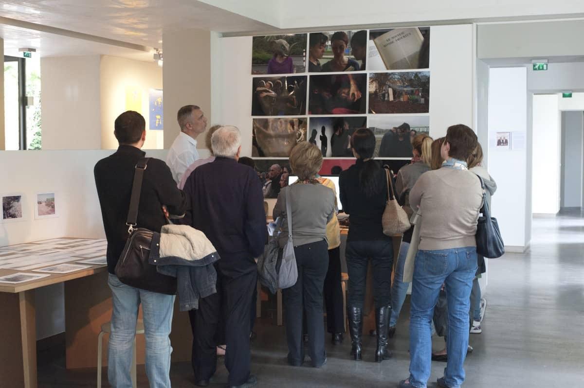 Visite de l'exposition La Fabrique des films en compagnie d'Arnold Pasquier, crédit photo Arnaud Rodriguez
