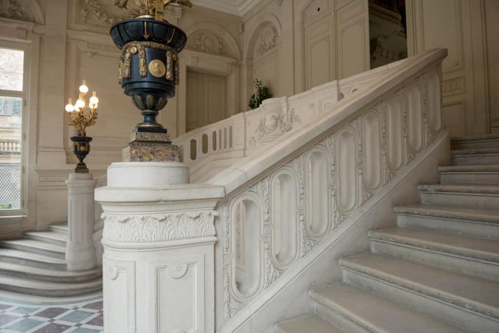 Hall d'entrée de l'Hôtel Salomon de Rothschild