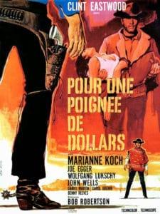 Pour une poignée de dollars, 1965 Affiche de film Vanni Tealdi