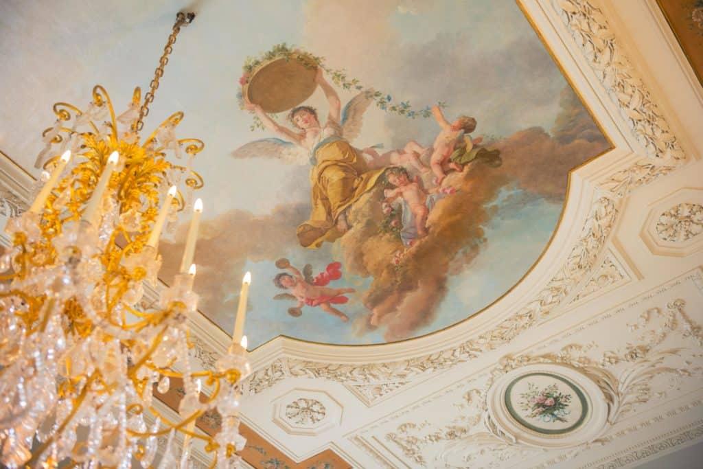 Détail du plafond d'un des salons de l'Hôtel Salomon de Rothschild