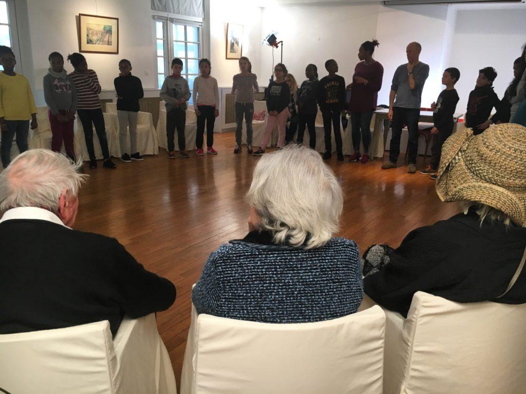 Répétitions de La Vie rêvées avec les enfants de centres aérés voisins, Salle Guy Loë