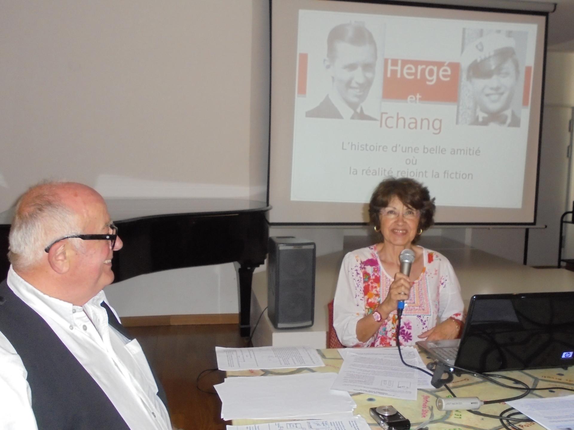 Raymond Laboute, ancien régisseur et Marie-Fabienne Bory, ancienne bibliothécaire