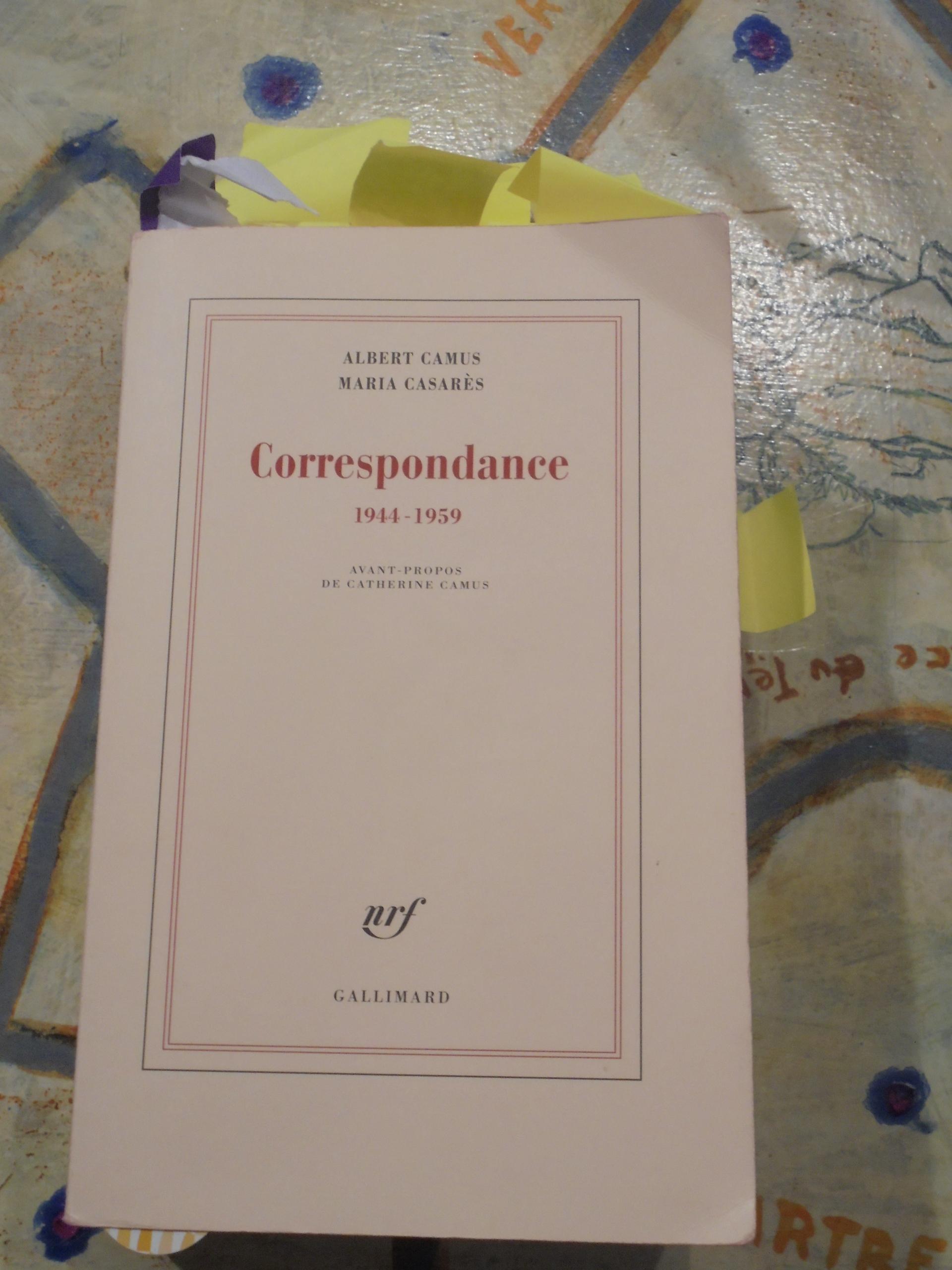 """Lecture de """"La correspondance"""" entre Albert Camus et Maria Casarès"""