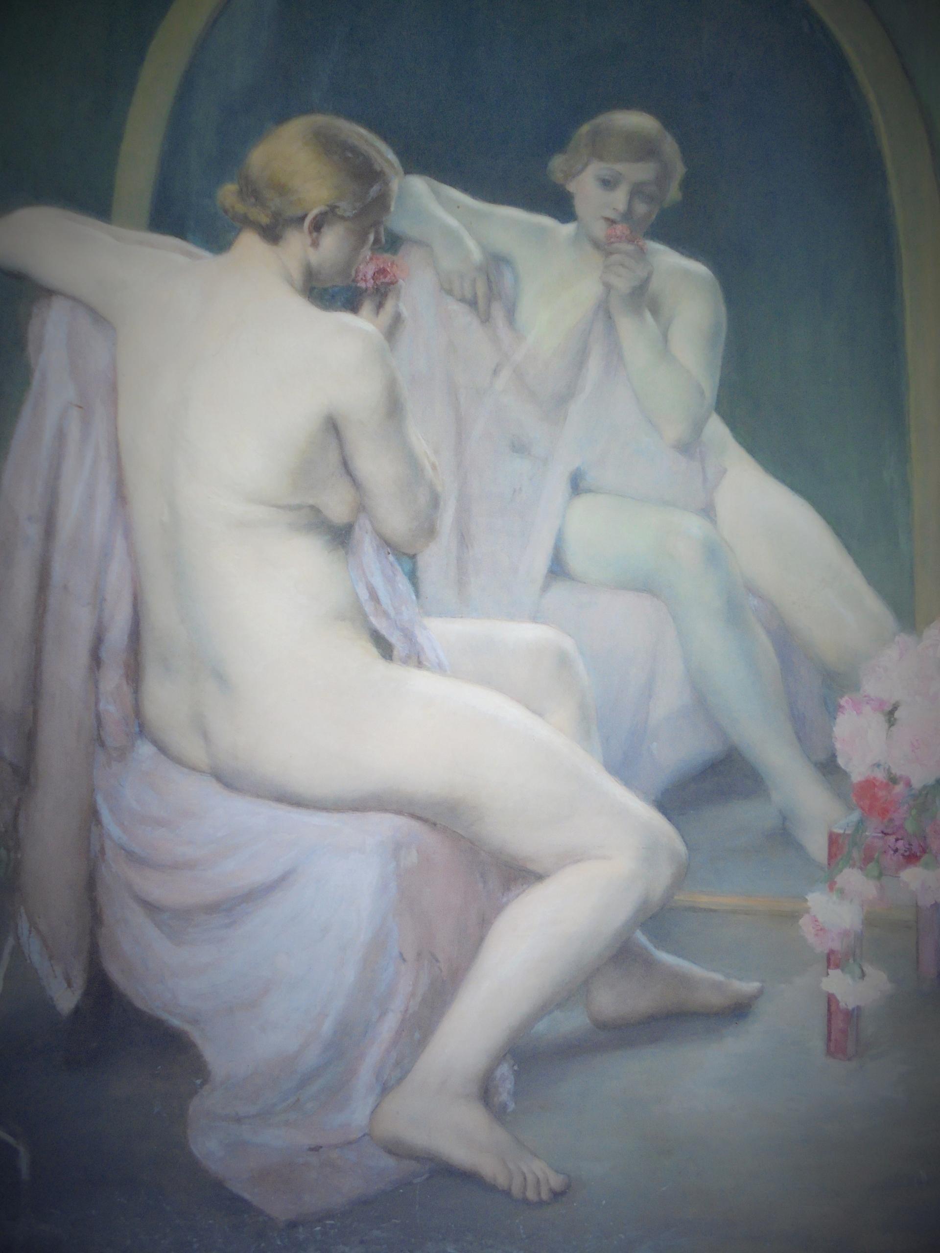 Femme assise devant un miroir huile sur toile 1937collection FNAGPnuméro d'inventaire 204 © FNAGP (2)