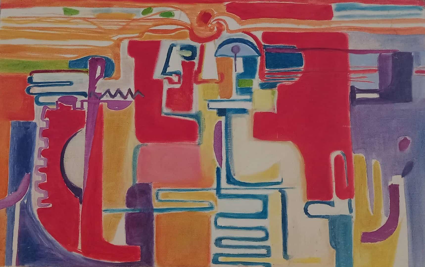 L'ingénieur, huile sur toile, 1968