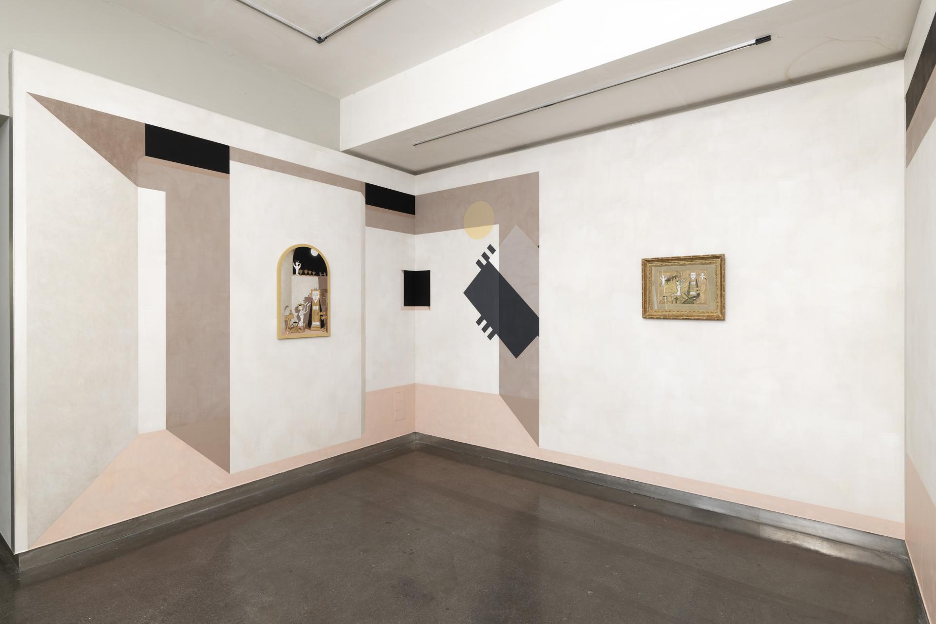 """Christian Hidaka, """"Avant, Pendant et Après"""", 2019. Vue de l'exposition """"Une journée avec Marie Vassilieff"""".Crédit Photo : Aurélien Mole"""