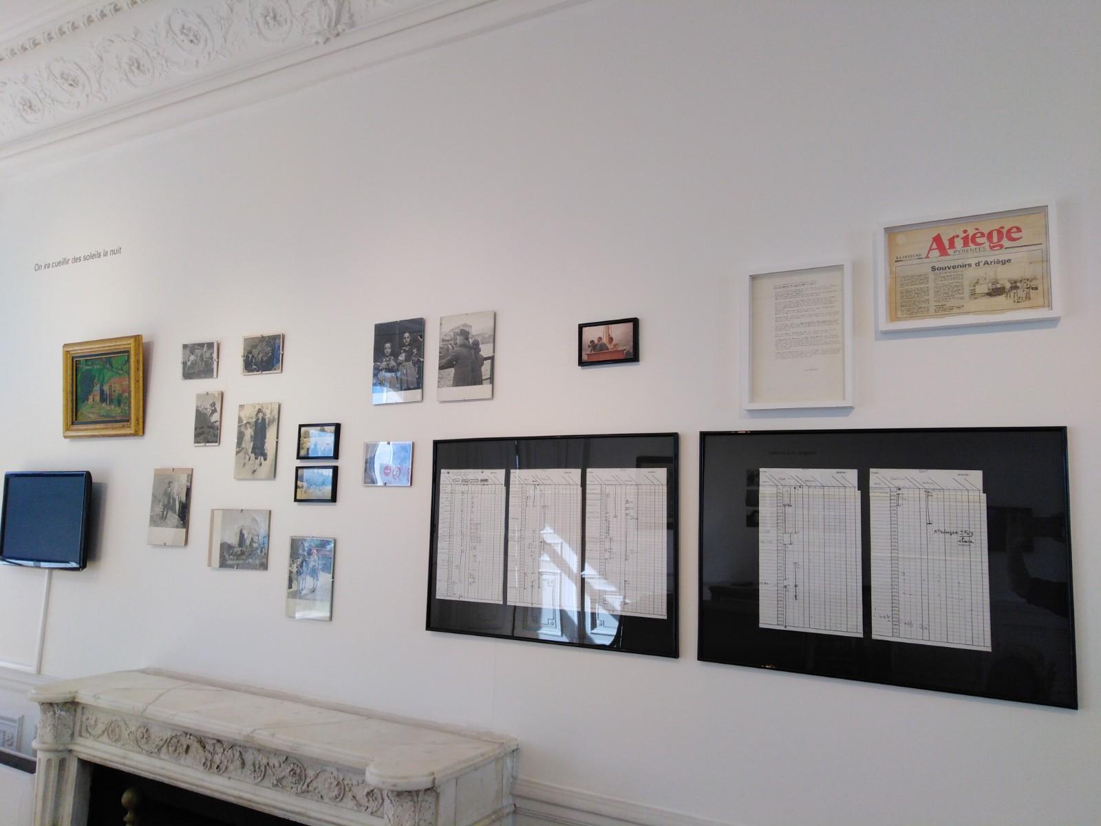 Vue de l'exposition On ira cueillir des soleils la nuit de Lise Déramond (3)