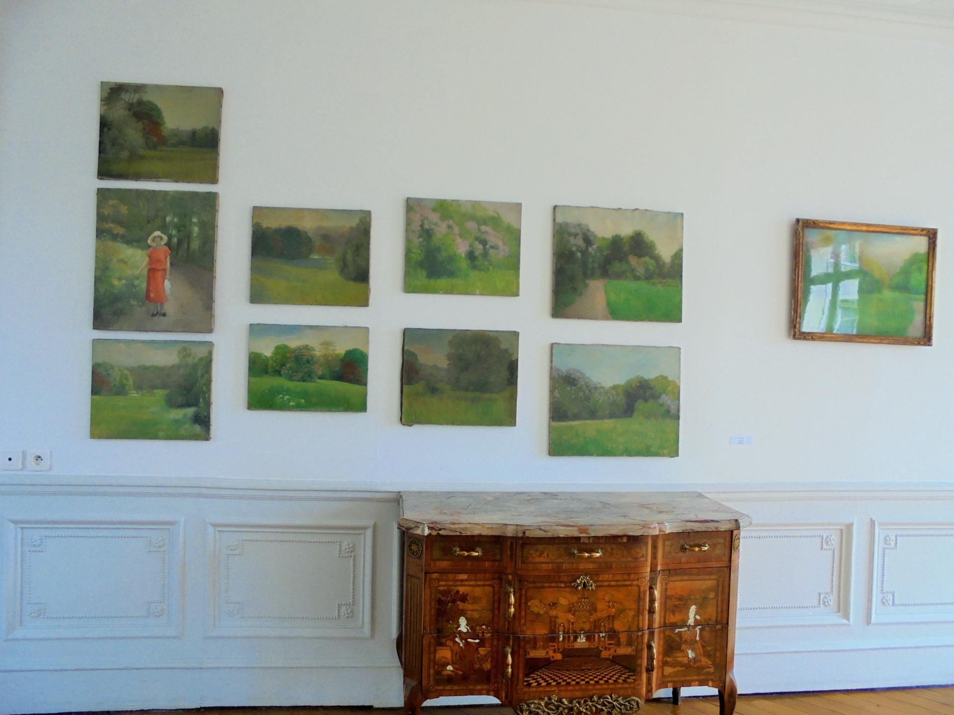 Vues du parc huile sur toile vers 1920 Collection FNAGP (2)