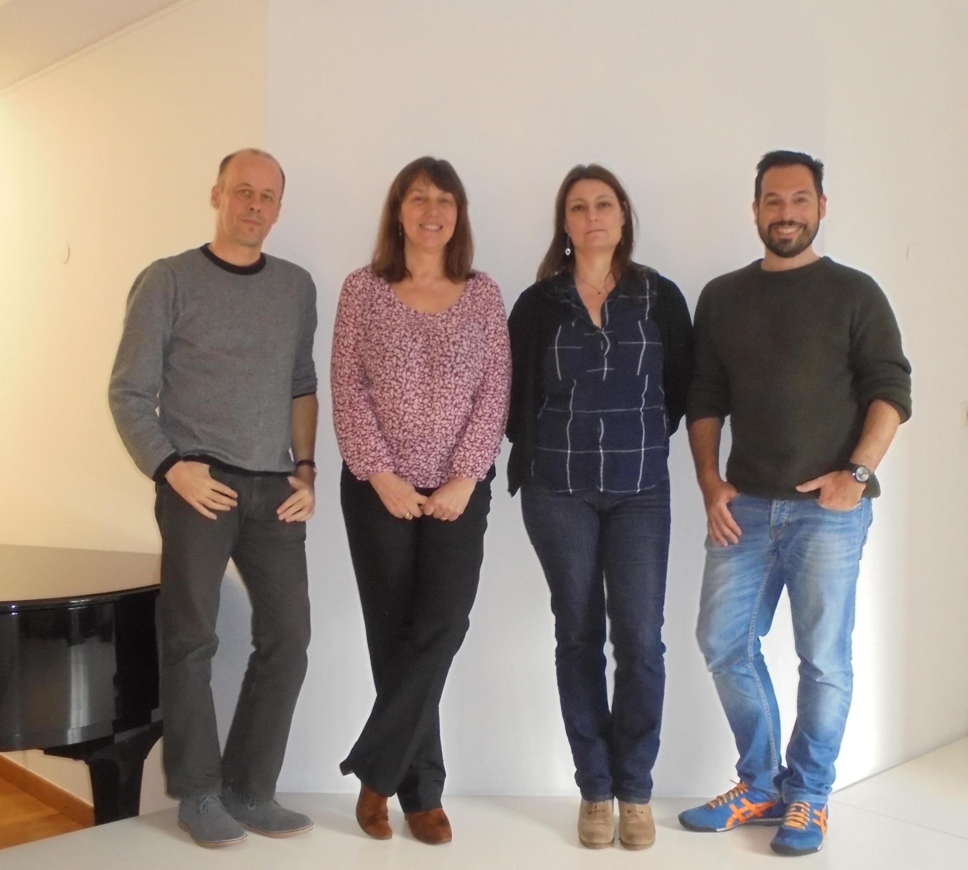 de droite à gauche, Christophe Botti, Isabelle Destrez, Stéphane Mercurio Christophe Martin