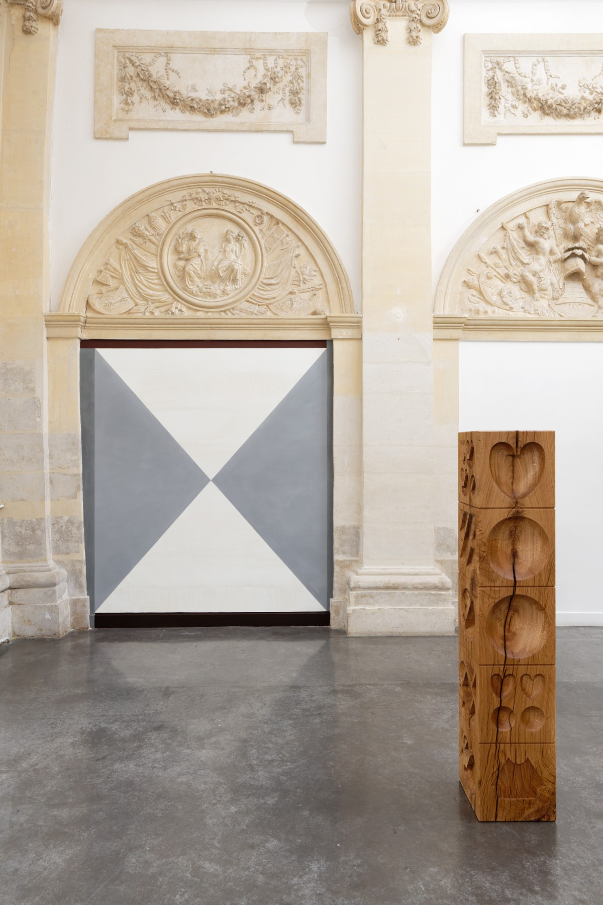 """Emmanuel Van der Meulen, vue de l'exposition """"Fables, formes, figures"""", """"Horeb"""", 2012. Crédit photo :  Aurélien Mole"""